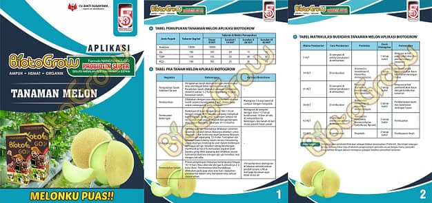 Jual Biotogrow Pupuk Organik murah Surabaya Sidoarjo panduan biotogrow melon