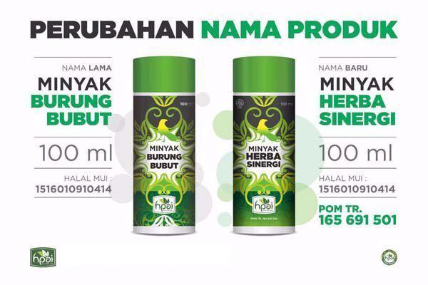 Perubahan minyak herba sinergi hpai surabaya