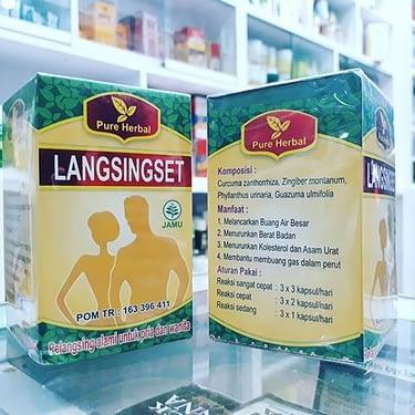 Agen obat pelangsing langsingset Herbal alami Jakarta Bandung Semarang