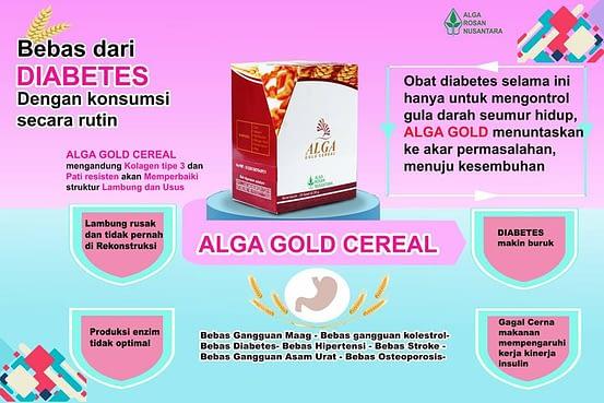 Agen alga Gold Cereal Murah Surabaya Sidoarjo