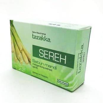 Grosir sABUN MANDI herbal sereh TAZAKKA (MEMBERIKAN EFEK RELAKS PADA KULIT TUBUH)