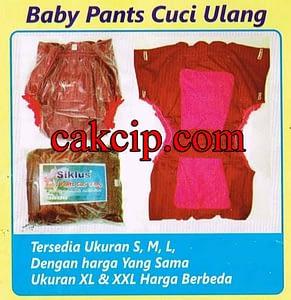 Jual SIKLUS BABY PANTS Cuci Ulang Asli Surabaya