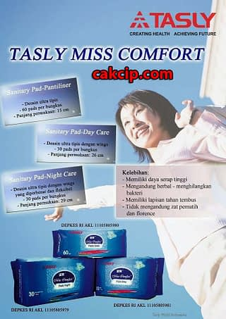 tasly pembalut herbal miss comfort murah