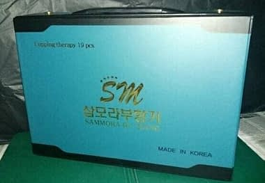 Distributor alat bekam sammora korea 12 pcs biru di surabaya